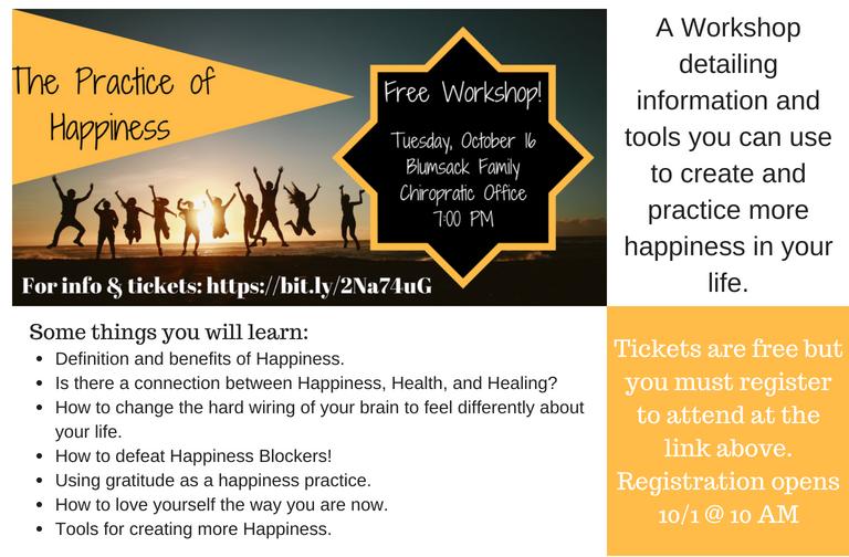 Happiness Workshop 8 X 5